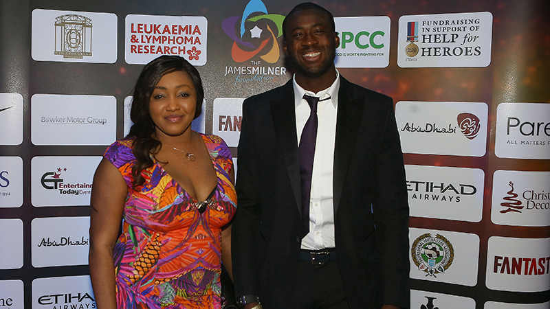 MCFC Yaya Toure and his wife at the charity ball