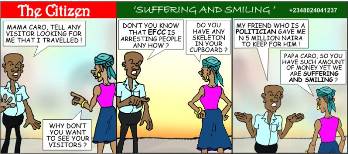 THE CITIZEN suffering and smiling