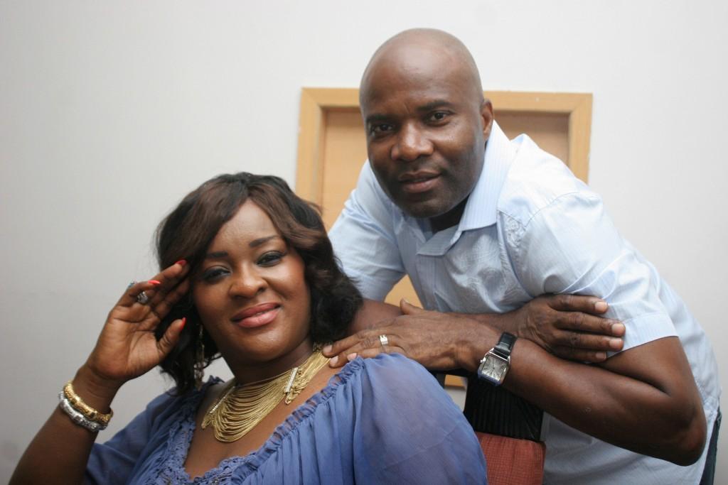 Waidi Akanni and wife Ibukun