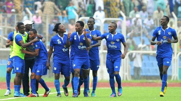 during the 2013 Nigeria Professional Football League match between 3sc and Akwa United on April 14, 2013 at,Lekan Salami Stadium,Ibadan @Kabiru Abubakar/Backpagepix