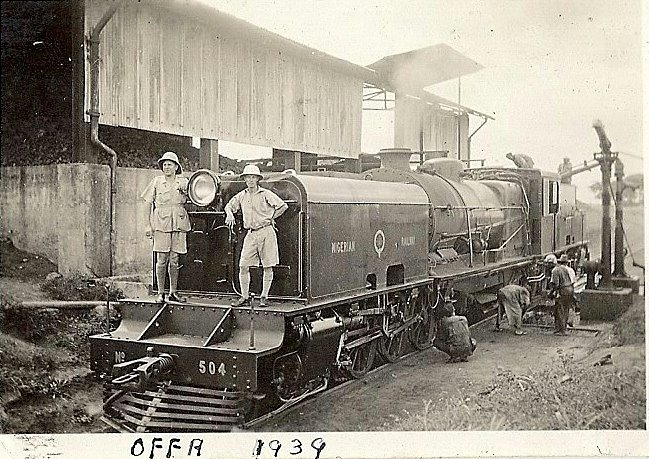 Rail Engineer James Marshal Thomson at Offa railway station 1939 Credit_ Luoman
