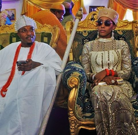 Oluwo-of-Iwo-Land-Oba-Abdul-Rasheed-Adewale-Akanbi-wife-The-Queen