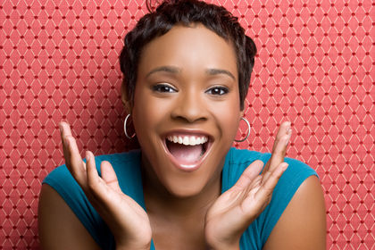 Happy Black Woman
