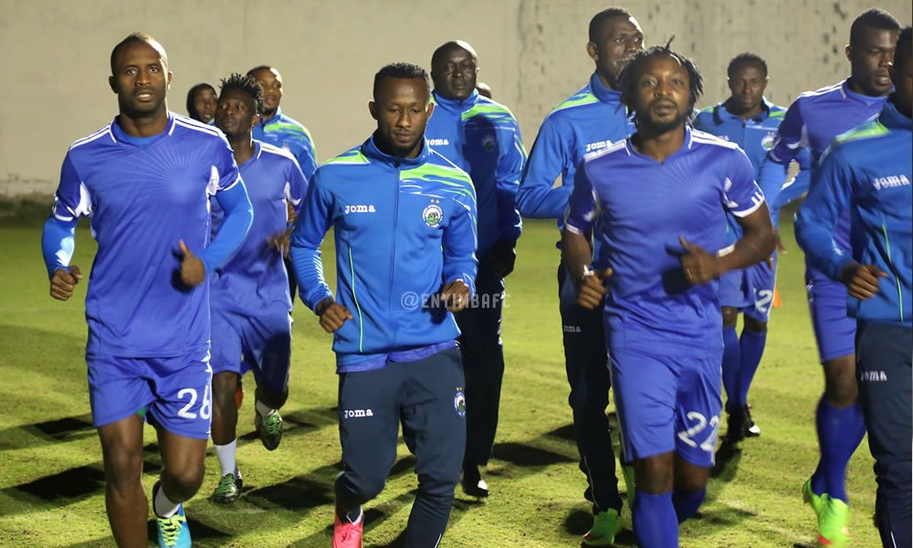 Enyimba players during training at Sousse in Tunisia