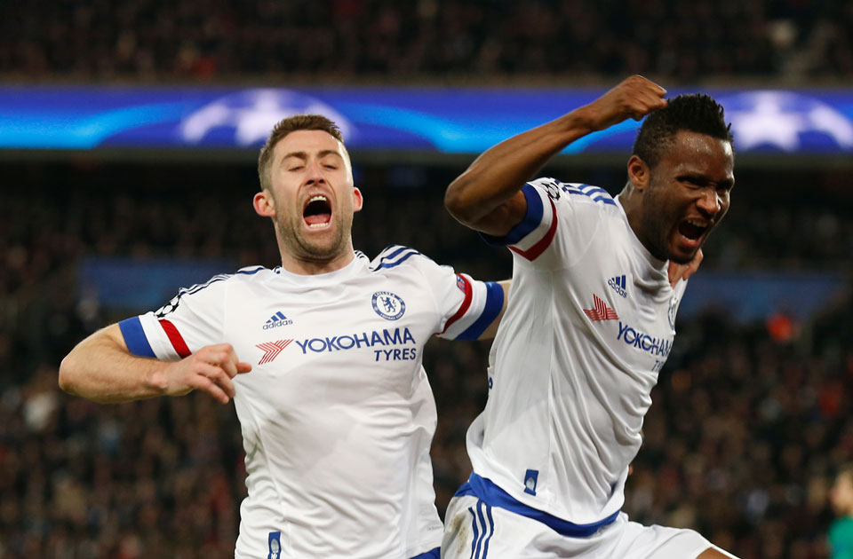 Mikel Obi (r) and Gary Cahill (l)