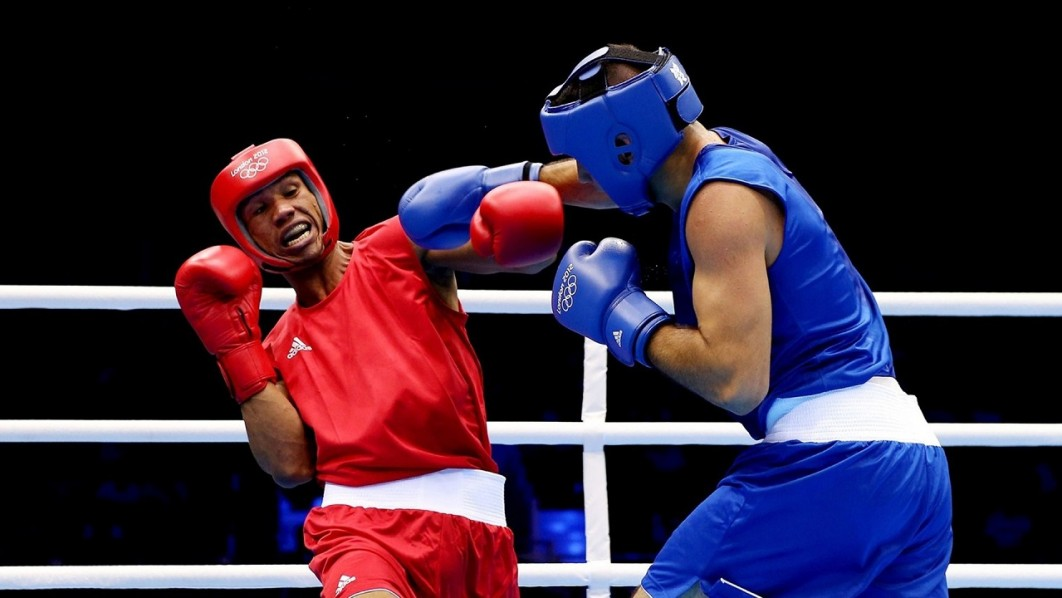 Nigerian boxer against an opponent