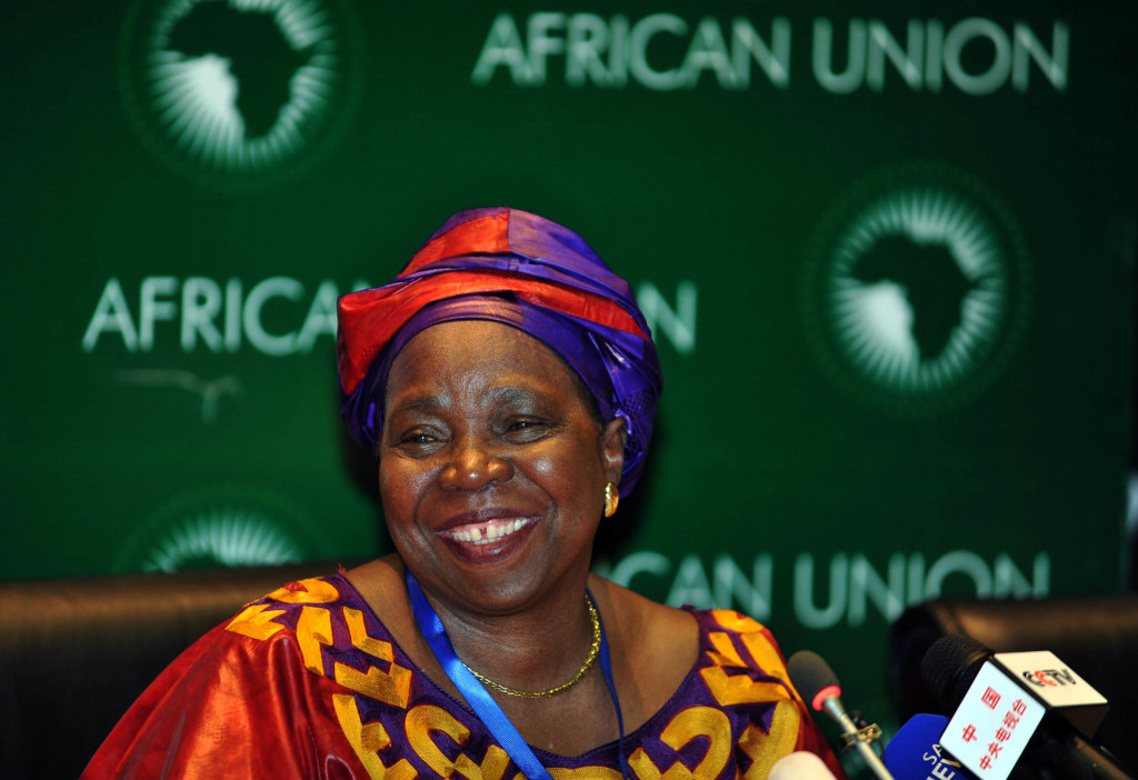Minister Nkosazana Dlamini-Zuma is seen at a news conference at the African Union headquarters in Addis Ababa in Ethiopia at the weekend, July 2012. Dlamini-Zuma was elected as commission head of the African Union. Dlamini-Zuma, the first woman to hold the post, beat the incumbent, Jean Ping of Gabon, in a closely-fought election over several rounds of voting in Addis Ababa, Ethiopia, on Sunday night. Picture: Department of International Relations, Cooperation/SAPA