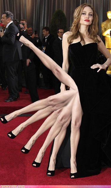 Infamous Angelina Jole leg pose
