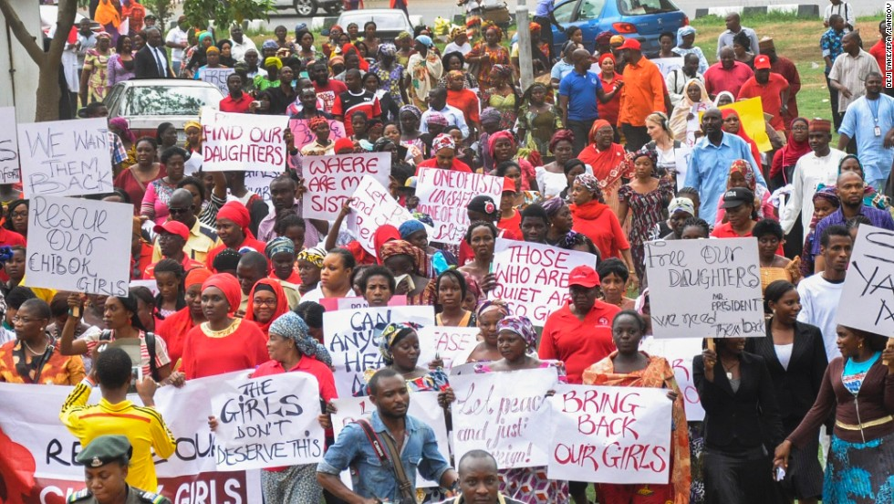 nigerian protests over kidnapped girls cnn