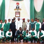 President Buhari and Team Nigeria athletes photo credit Thisdaylive