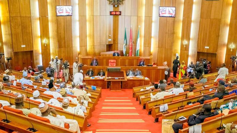 Nigerian Senate in session at Abuja, Picture from Premium Times