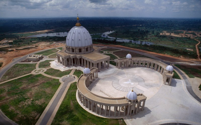 basilica of our lady of peace is the largest church in the world. thedailybeast