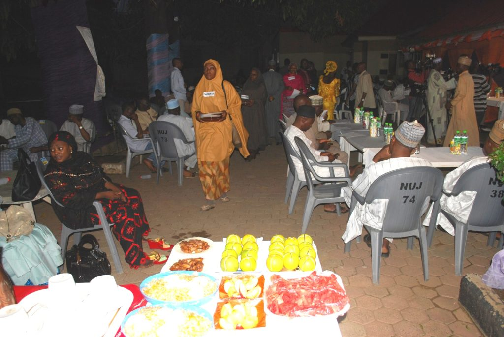 Muslims during breaking of fast in kaduna