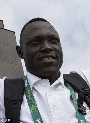 Paulo Amotun Lokoro (left), South Sudan, athletics, 1500m