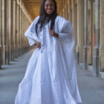 A lady in the male inspired Agbada. Picture Source / www.pinterest.com/menswear-inspired