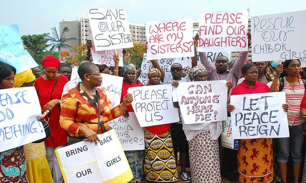 Bringbackourgirls campainers in Abuja...photo /theguardian.com