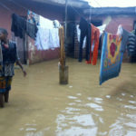 Compound of a house affected by the flood in Jema'a..Photo/elenza.com