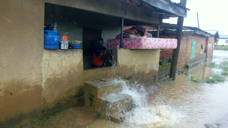 A house affected by flood in Jema'a LGA..photo/Elenza.com