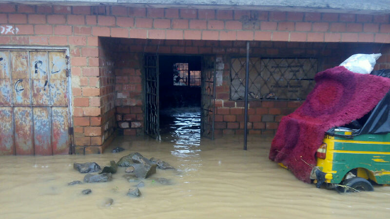 Another house affected by the flood