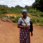 A Gbagy woman hanged her hoe after a day work in the farm