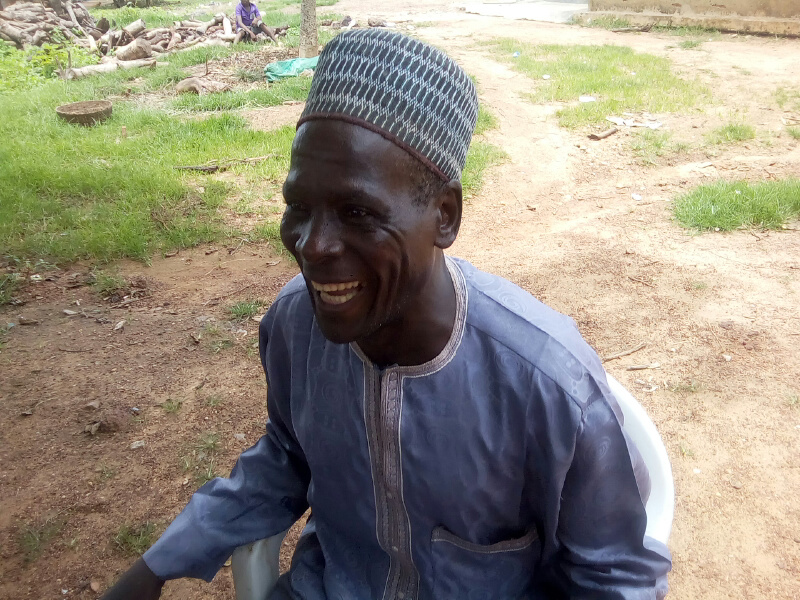 village Head Ishaya Gwamna smiling to the camera