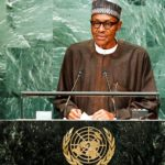 Nigerian President Muhammadu Buhari gives his address at the 71st UN General Assembly, at UN Headquarters New York, New York September 20, 2016