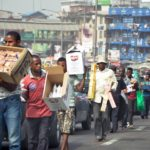 Street traders in Lagos