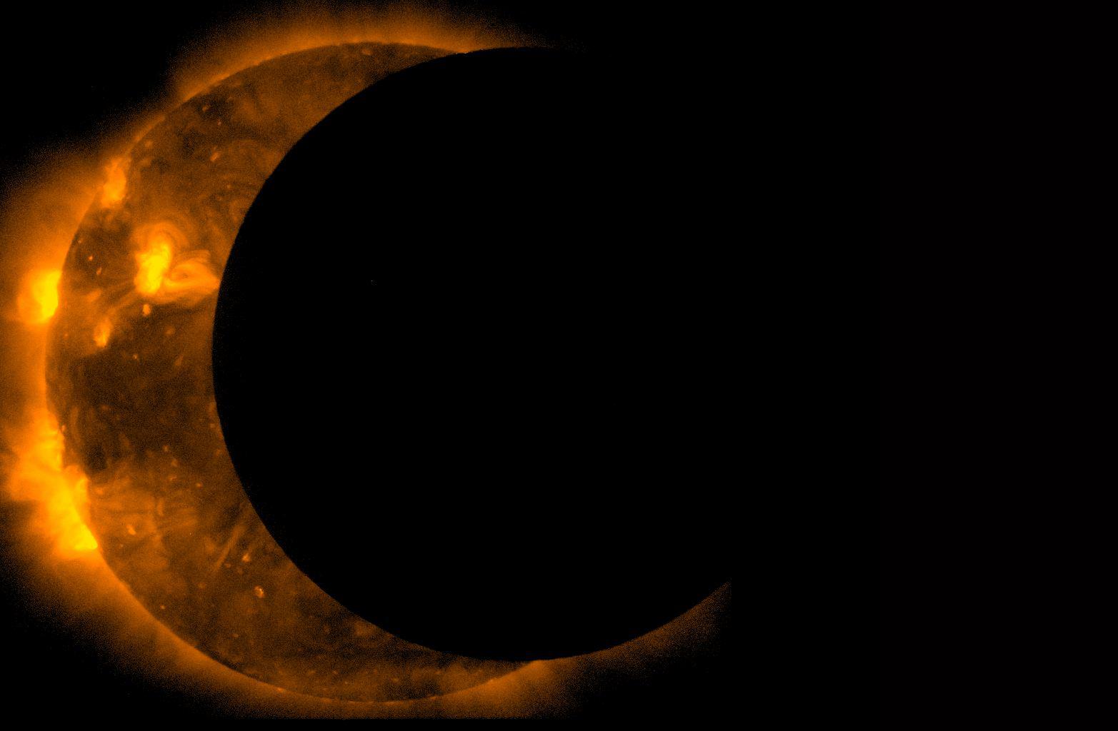 NASA image of partial solar eclipse. Photo/Nasa.gov